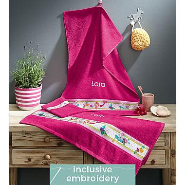 Erwin Müller kids 3-piece towel set incl. free name embroidery on hand towel & bath towel