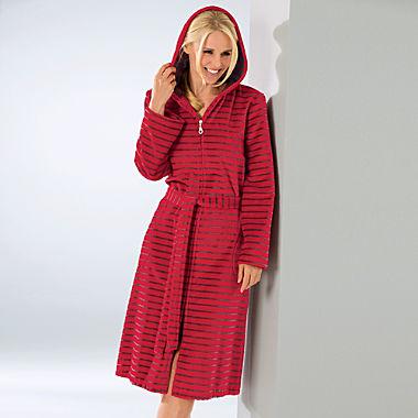 Cawö women's hooded bathrobe
