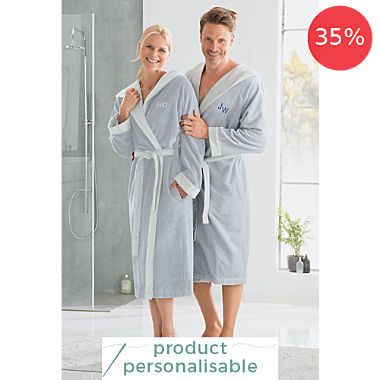 Erwin Müller unisex hooded bathrobe
