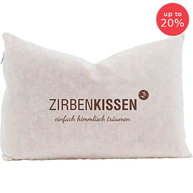 Zirben Familie Swiss pine wood pillow