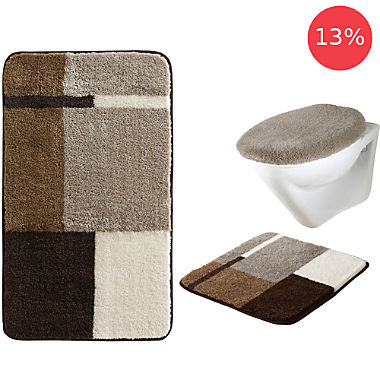 Erwin Müller 3-piece bath mat set without cut-out