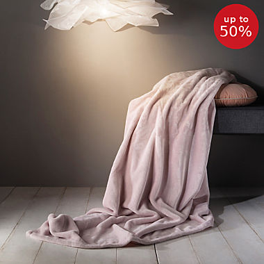 Erwin Müller microfibre fleece blanket