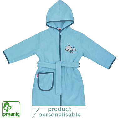 Wörner kids organic cotton hooded bathrobe