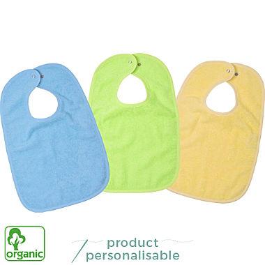 Wörner 3-pack organic cotton bibs