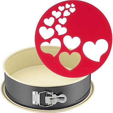 Kaiser Backen springform cake tin incl. heart stencil