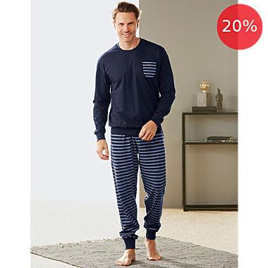 Erwin Müller single jersey men´s pyjamas