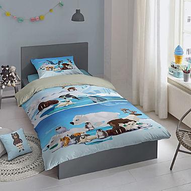 Good Morning cotton flannelette kids reversible duvet cover set