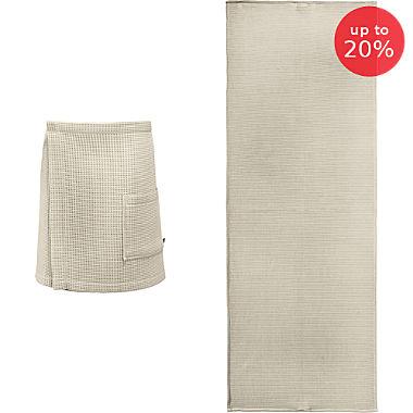 Erwin Müller men's spa wrap & sunlounger towel set