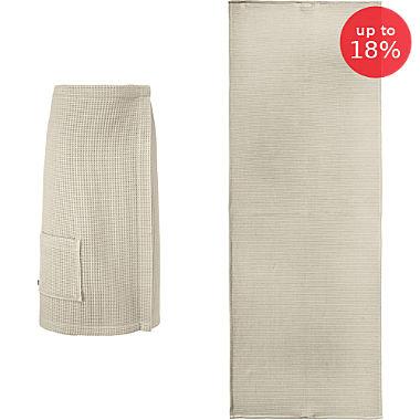 Erwin Müller women's spa wrap & sunlounger towel set