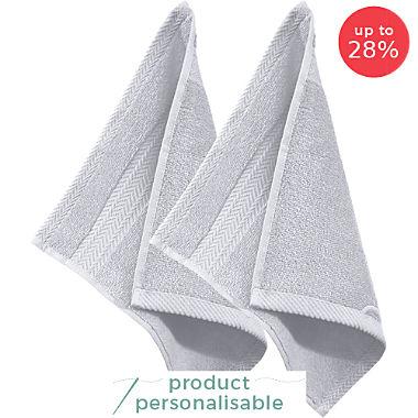 Pack of 2 Erwin Müller premium cotton face cloths, Friedrichshafen
